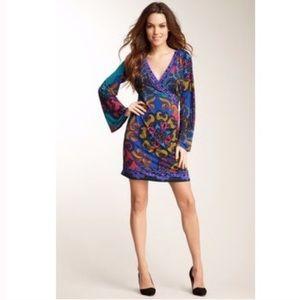 Hale Bob Madeline Long Sleeve Wrap Dress